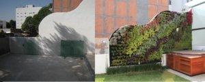 Patios y terrazas con jardines verticales