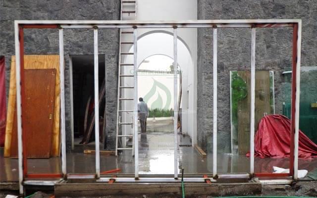 Estructura para el muro Verde