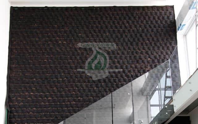 Geotextil en Muro Verde