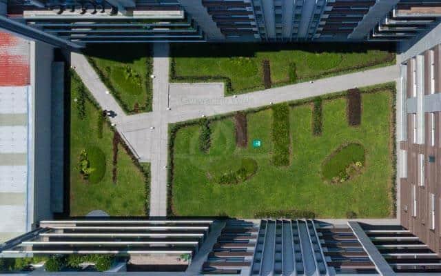 Azotea Verde, vista aérea