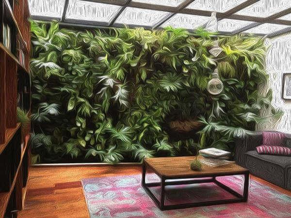Sketch Muro Verde Interior